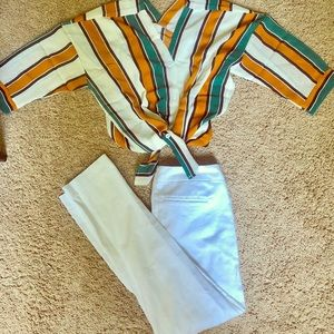 Pinstripes retro top and pants